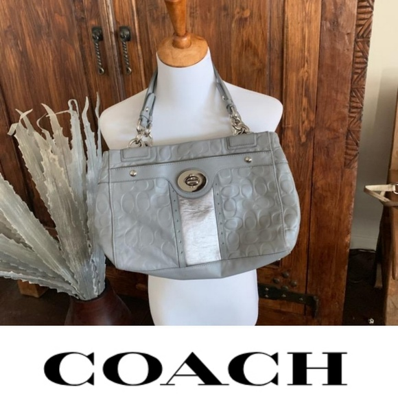 Coach Handbags - Coach leather grey purse